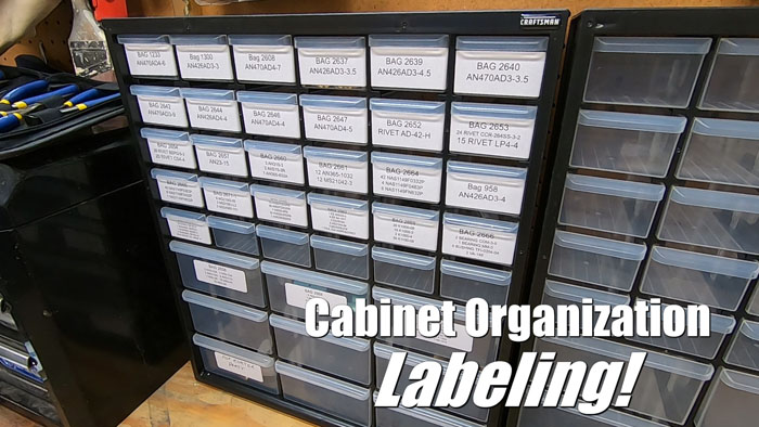Organization Labeling for the Parts Cabinet